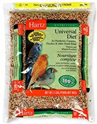 Hartz Nutrition Small Bird Universal Diet, Vitamin and Mineral Fortified - 2 lb (Pack of 3)