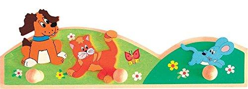 Woodyland 93045 – Kinder Garderobe, Tiere, aus Holz günstig bestellen