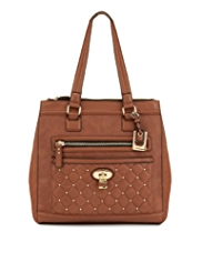 M&S Collection Studded Padlock Tote Bag