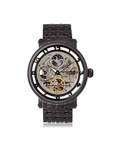 Stuhrling Original Men's 411.335B1 Symphony Black/Silver Stainless Steel Watch