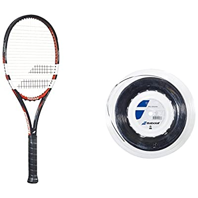 Babolat Pure Control Gt Un strung Racquet and Pro Xtreme X 200M String Combo Pack Grip 4.375