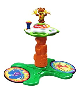 Amazon Com Vtech Sit To Stand Dancing Tower Toys Amp Games