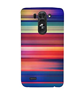 printtech Colored Lines Streaks Back Case Cover for LG G3 Beat / LG G3 Vigor / LG G3s /LG g3s Dual