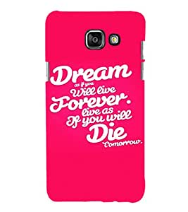 EPICCASE Repeated design Mobile Back Case Cover For Samsung Galaxy A7 (2016) (Designer Case)