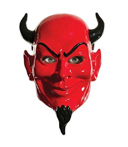[Popcandy Scream Queens Red Devil Adult Costume Plastic Mask] (Red Devil Scream Queens Costume)