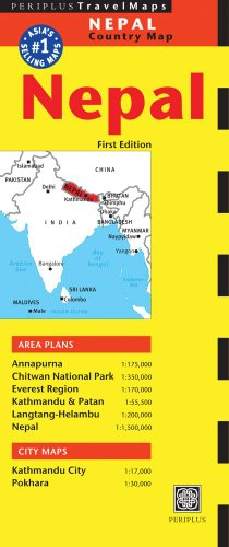 Nepal Travel Map First Edition (Periplus Travel Maps), Buch