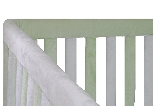 Go Mama Go Go Mama Go Designs Green & White Teething Guard 52-inch X 6 -inch, Green, White