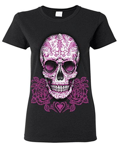 Set of Day Of Dead Black Women's T-shirt Sugar Skull Shirts