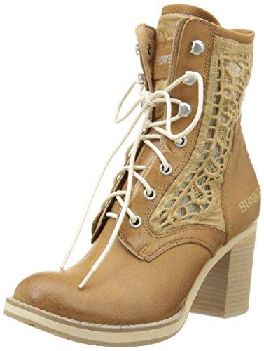 BunkerMana Em70 - Stivali classici alla caviglia Donna , Marrone (Marron (Crema)), 38 EU