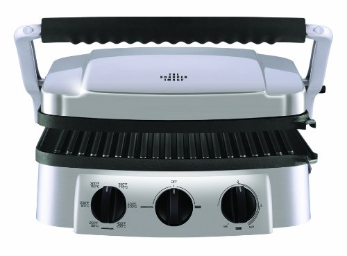 the-sharper-image-8147si-stainless-steel-super-grill-with-interchangeable-nonstick-plates-by-sharper