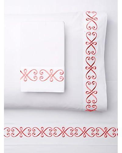 Westport Linens Modern Swirl Embroidered Sheet Set