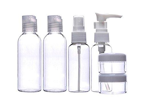 Blovess 6pcs Clear Travel Empty Bottle Set Refillable