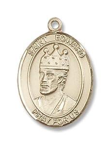 14kt Gold St. Edward the Confessor Medal