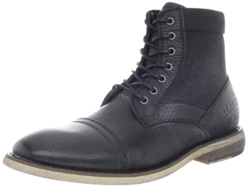 Kenneth Cole Reaction Men's Craft Master Lace-Up Boot, Black, 8.5 M US