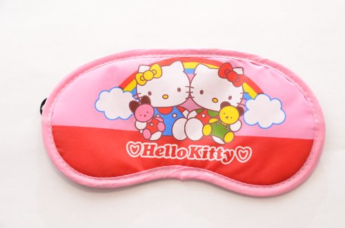 Cute eye mask [Kitty] (red)