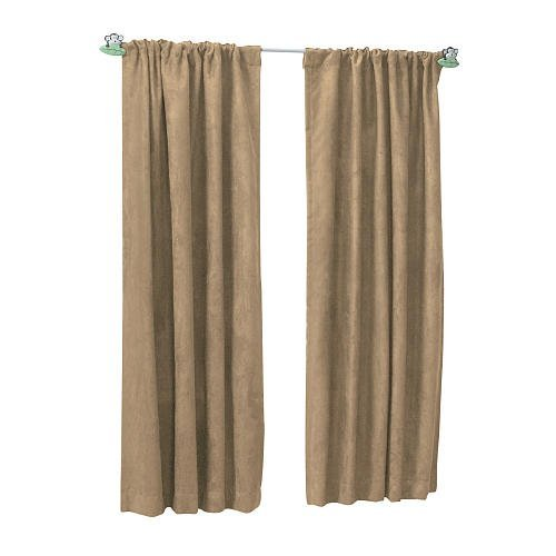 Sweet Dreams Suede Window Panel - Khaki (84 inches) - 1