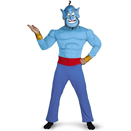 Aladdin's Genie Muscle Adult Costume - 42-46