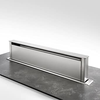qualitativ hochwertige bodenhaube 90 cm in edelstahl dunstabzugshaube ausfahrbar mit. Black Bedroom Furniture Sets. Home Design Ideas
