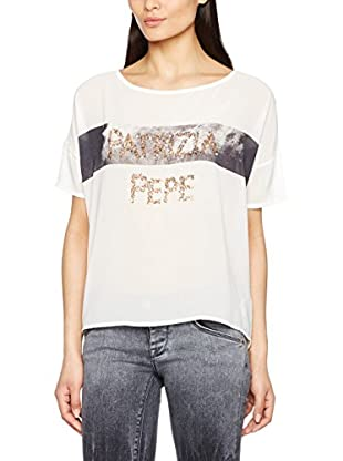Patrizia Pepe Camiseta Manga Corta (Blanco / Negro)