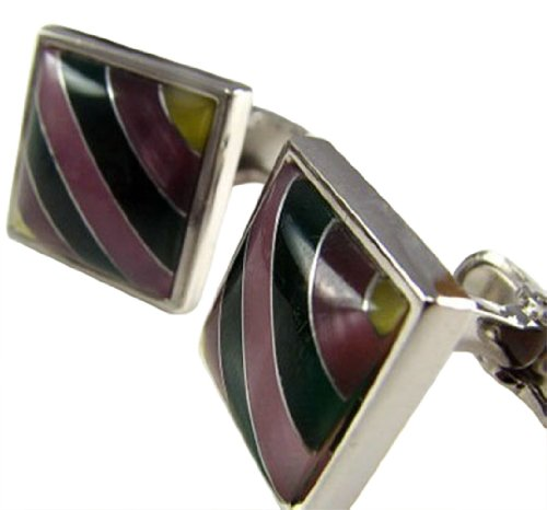 Worldfashion Multi-color Mixed Shells Men Classical Cufflinks Come In a Nice Gift Box by WorldFashion