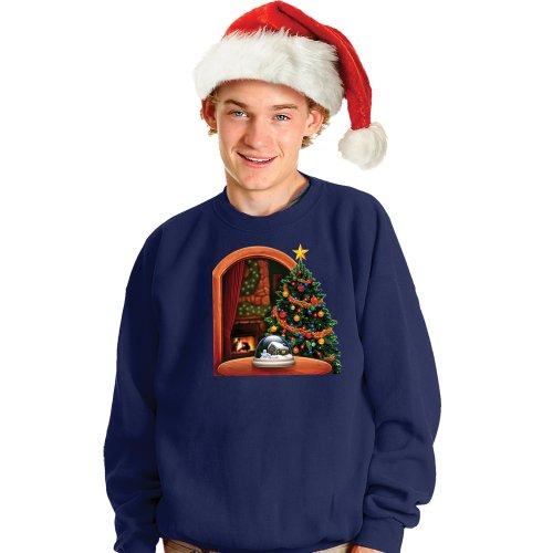 Morphsuits Digital Dudz Christmas Tree Ugly Christmas Sweatshirt, Blue, Small
