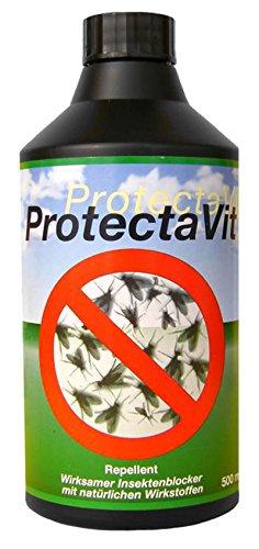 Mastavit 50453 ProtectaVit Insektenblocker Insektenschutz 500 ml für Pferde & alle Tierarten (ausser Katzen)
