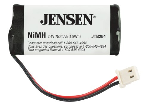 Jensen Jtb254 Nimh Cordless Phone Battery front-455322
