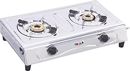Injla-P-205-VS-2-Stainless-Steel-Manual-Gas-Cooktop-(2-Burner)