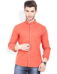 Bay Ridge Linen Cotton Slimfit Shirt With Mandrin Collar.