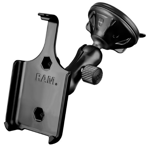 RAM Mounting Systems RAP-B-166-2-AP9U Ram Mount Suction Cup Vehicle Mount for the Apple iPhone 4