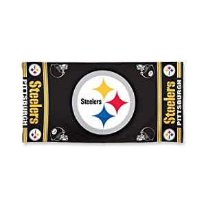 NFL Pittsburgh Steelers Design Beach Towel - Black by WinCraft