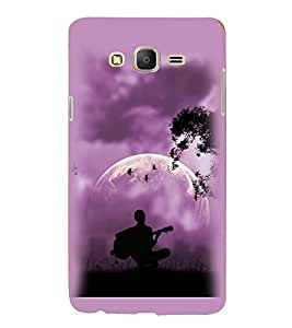 Printvisa Premium Back Cover Vector Guitarist View Design For Samsung Galaxy On5::Samsung Galaxy On5 G550FY