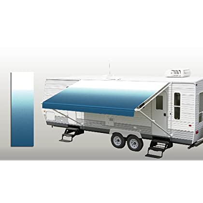 Reviewrv Patio Awning Fabric Ocean Blue Fade 17