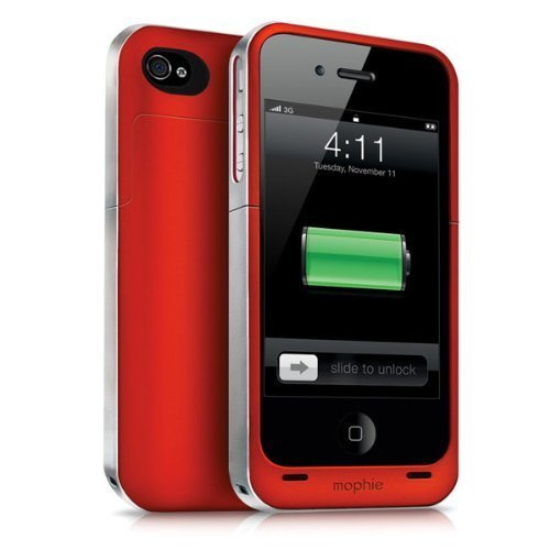 【日本正規代理店品】mophie juice pack air for iPhone 4S/4 - (PRODUCT) RED プロダクト レッド MOP-PH-000020