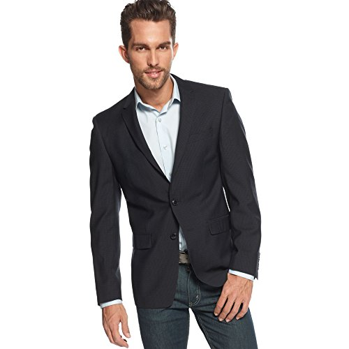 DKNY-Blazer-Navy-Striped-Two-Button-100-Wool-New-Mens-Sport-Coat