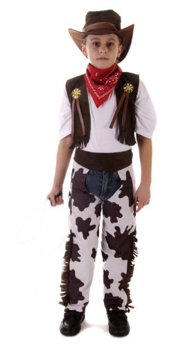 Cowboy Childrens Fancy Dress Costume Age 4-6 Years