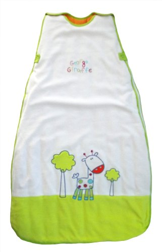 The Dream Bag Baby Sleeping Bag Velour George Giraffe 6-18 Months 3.5 TOG - White - 1