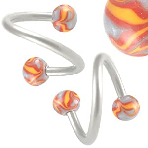spiral cartilage earring unique lip rings 16