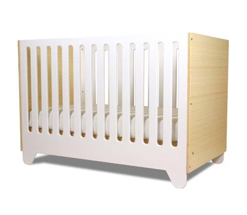 Hiya Crib - Polar White & Bamboo