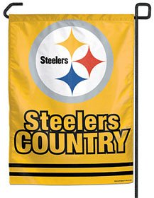 Pittsburgh Steelers 11x15 Economy Garden Flag (Steeler Country) from SteelerMania