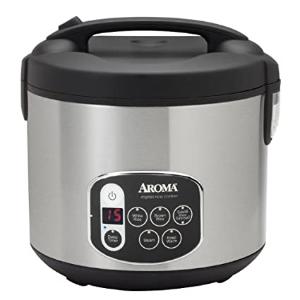 Aroma ARC-1010SB Digital Rice Cooker and Food Steamer