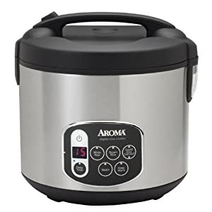 Aroma ARC-1010SB 10-Cup (Uncooked) 20-Cup (Cooked) Digital Rice Cooker and Food Steamer,... by Aroma