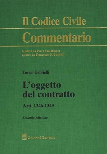 L'oggetto del contratto. Artt. 1346-1349