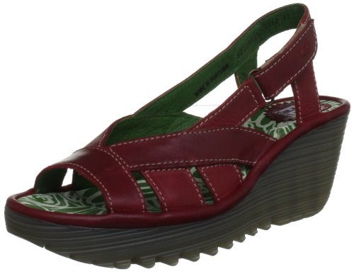 Fly London Women's Yisa Red Slingbacks P500391002 7 UK