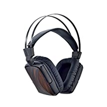 Esmooth Premium Ebony Wood Headphones Color Black