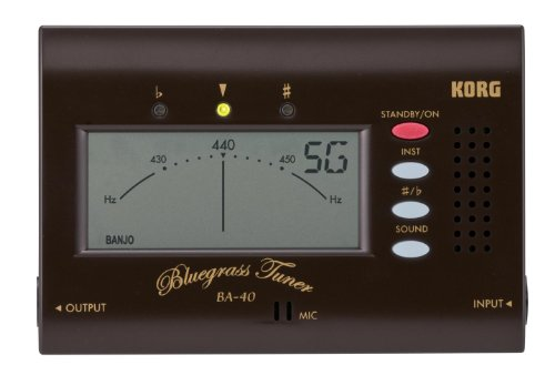 Korg BA40 Bluegrass Tuner for Mandolin, Fiddle, Banjo and Resonator Guitar