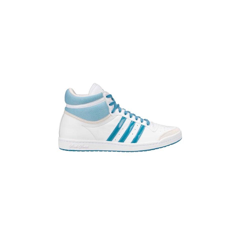 the latest d033d 18c0e Adidas Top Ten HI Sleek Weiß Leder Damen Sneaker Schuhe