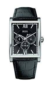 Hugo Boss - 1512401 - Montre Homme - Quartz Analogique - Cadran Noir - Bracelet Cuir Noir