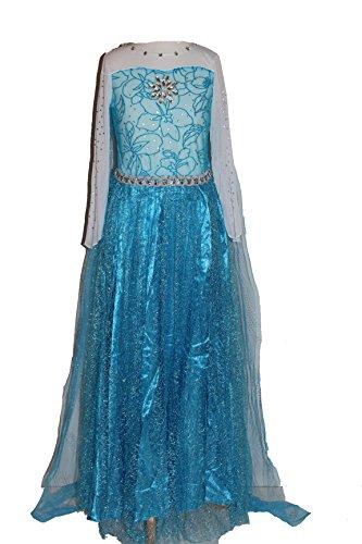 Girls Frozen Snow Queen Elsa Costume Snow Princess Dress Up