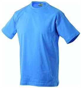 James & Nicholson Homme T-Shirt Round Heavy ÜG Bleu aqua XXXL
